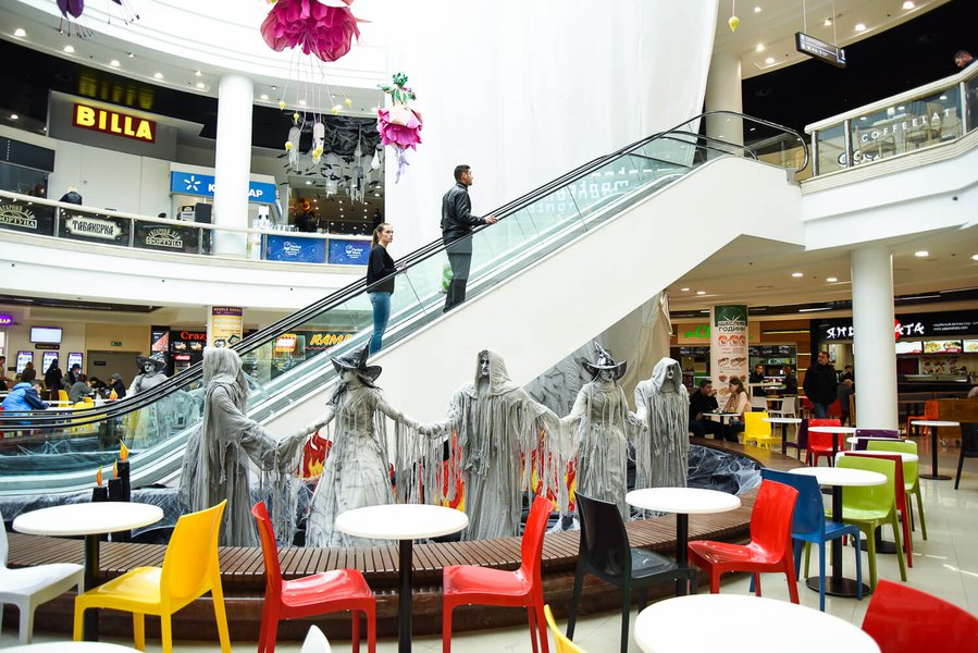 Globus Shopping Mall Halloween Decoration 2017